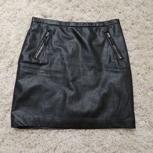 Faux lather skirt